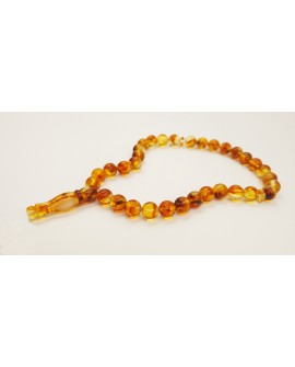Natural Baltic Amber Modified Light Beads Muslim Prayer