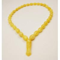 Natural Baltic Amber Modified Yellow Olives Muslim Prayer