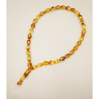 Natural Baltic Amber Modified Light Olives Muslim Prayer