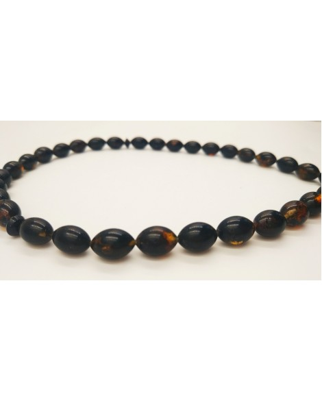 Natural Baltic Amber Modified Dark Olives Muslim Prayer