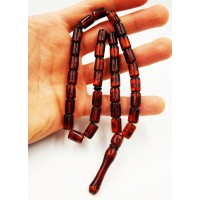 Natural Baltic Amber Modified Citrus/Cogniac/Cherry Barrel Muslim Prayer