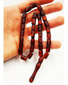 Natural Baltic Amber Modified Citrus/Cogniac/Cherry Barrel Muslim Prayer