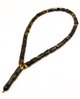 Natural Baltic Amber Modified Dark Barrel Muslim Prayer