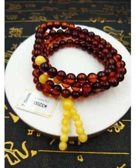 Natural Baltic Amber Buddha 108 Prayer