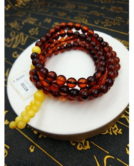Natural Baltic Amber Buddha 108 Prayer